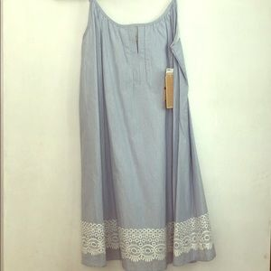 Copper key-Blue gingham dress never worn XS